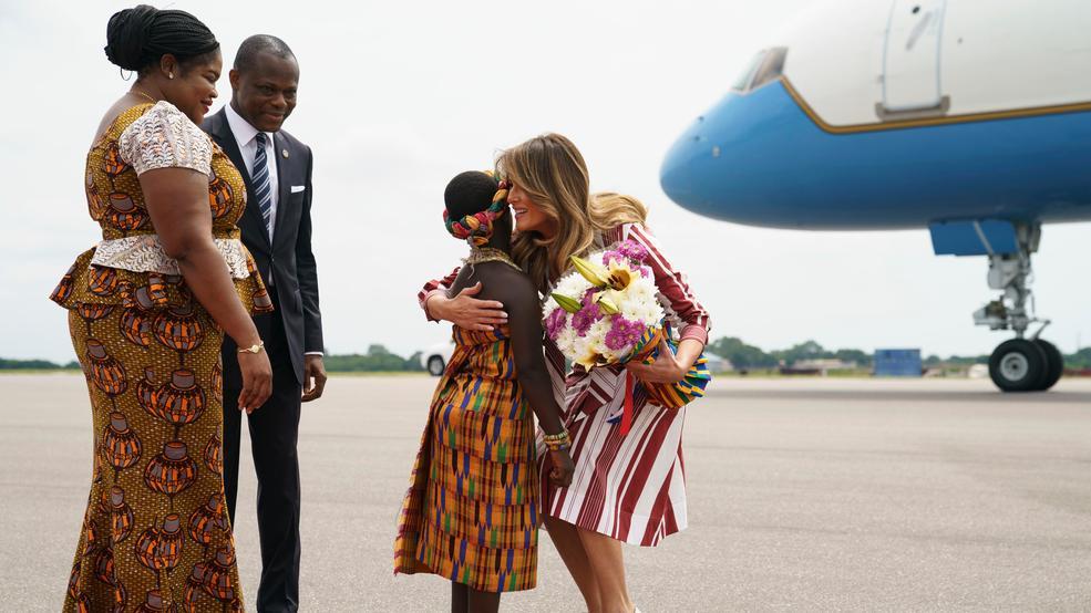Image result for MELANIA VISIT GHANA IMAGES