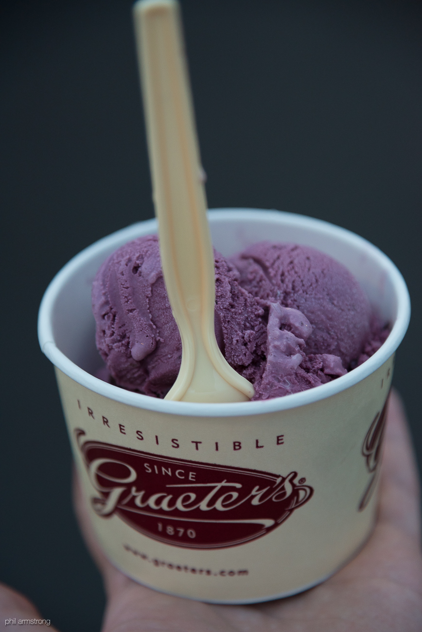 Graeter's black raspberry chocolate chip / Image: Phil Armstrong, Cincinnati Refined // Published: 8.15.17