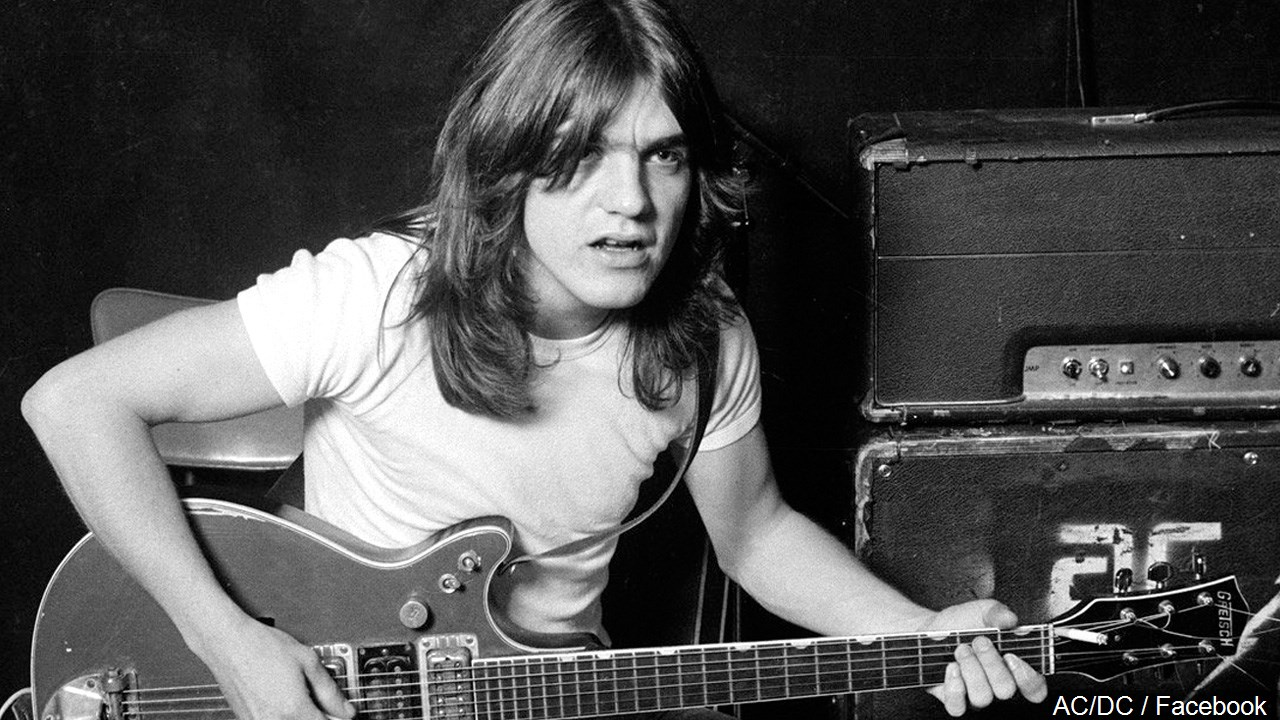 Musician Malcolm Young died Nov. 18, 2017. He was 64. (AC/DC/Facebook/MGN Online)<p></p>
