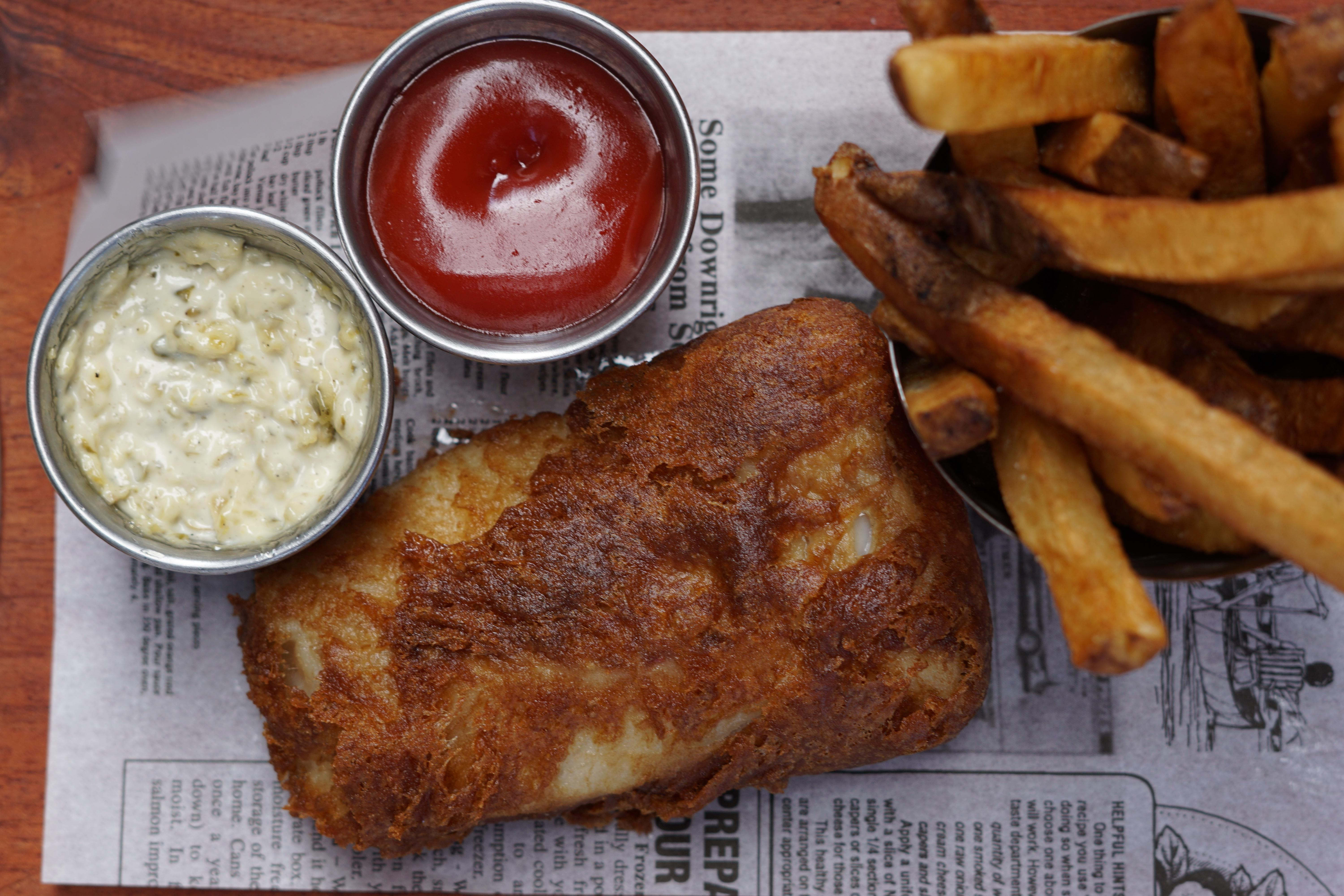 Fish and chips from new chef Jonathan Collins at Owen's Ordinary. (Image: Courtesy Owen's Ordinary)