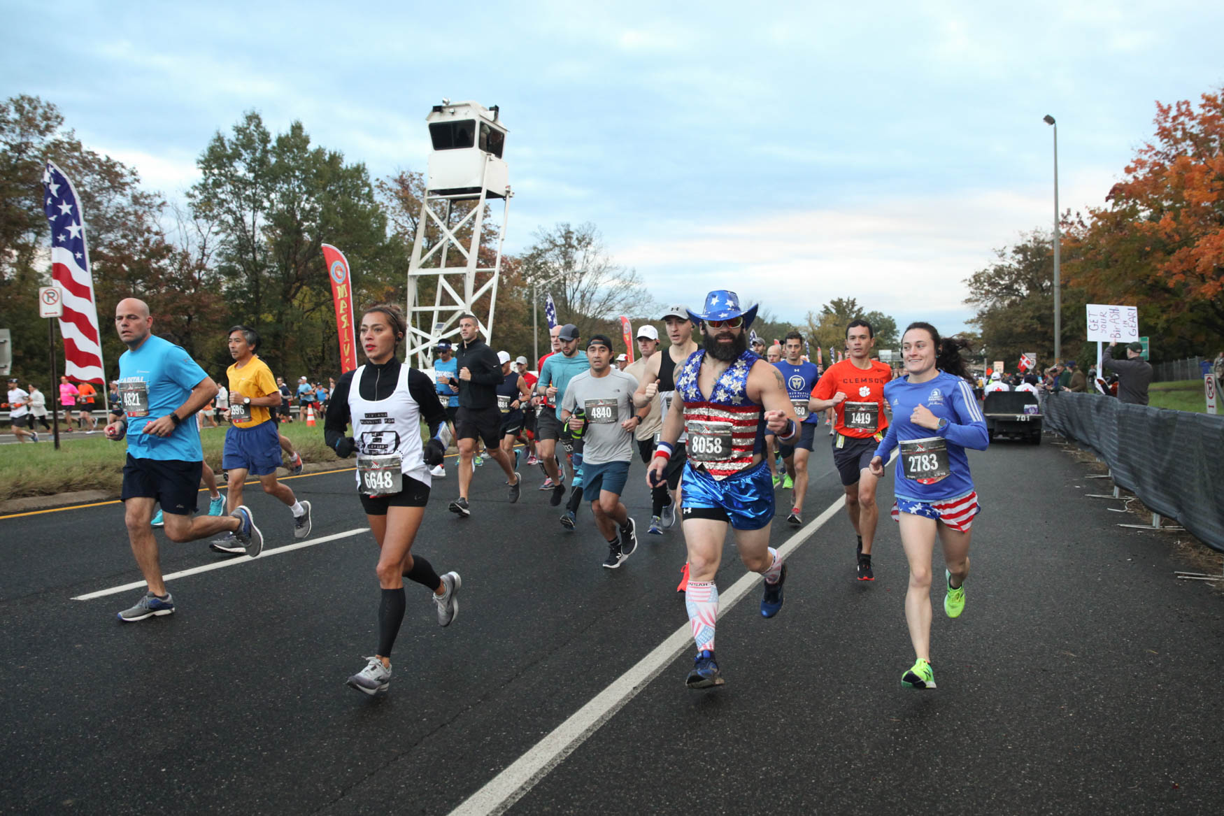 Thousands of athletes from around the world ran, wheeled and jogged their way over a 26.2 mile course for the 43rd Marine Corps Marathon on October 28. The course spanned from The Pentagon to D.C., ultimately concluding at the base of the Iwo Jima Memorial. The Marine Corps Marathon is only open to 30,000 runners, but the event includes a 10k and 5k race. (Amanda Andrade-Rhoades/DC Refined)