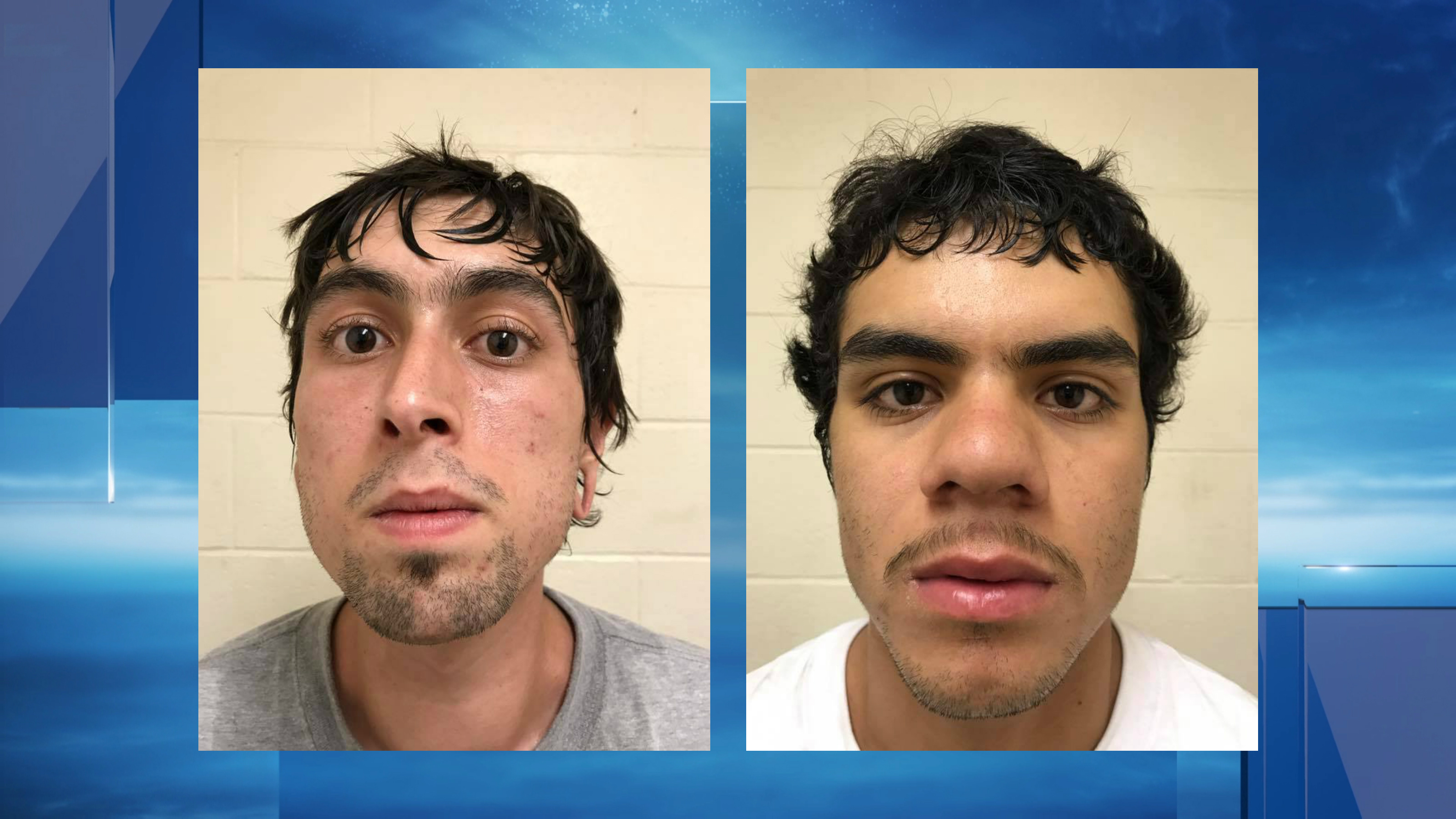 McFarland, Calif., officers arrested two men on suspicion of vandalism and possessing homemade explosives Saturday, July 15, 2017. (Photo from McFarland Police Department)