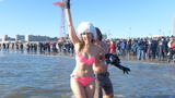 Hundreds take part in frigid Coney Island Polar Bear plunge