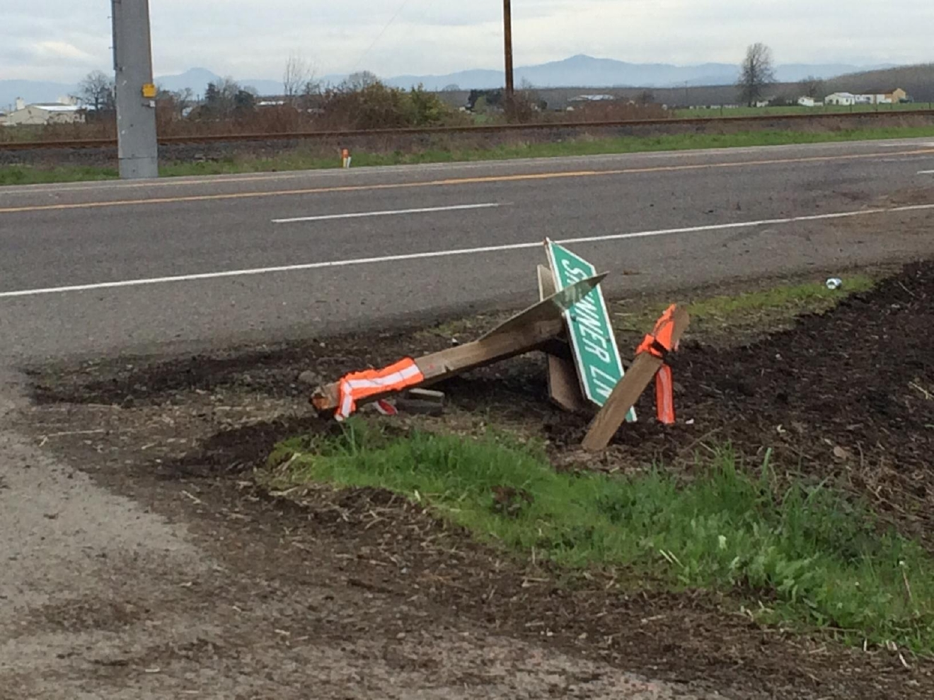 Emergency crews responded to a crash near Junction City on Highway 99 South on Friday before noon. (SBG photo)
