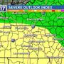 Strong to severe storms possible for Middle Tennessee Thursday