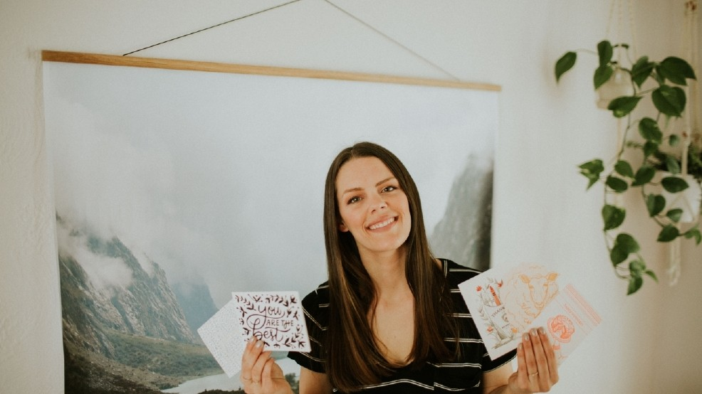 "Local mom Allison Roozen founded an online stationery shop, ""Sentiment Supply,"" that curates and collects packs of event-specific stationery for women on the go. We interviewed Roozen a couple of years ago and she said the goal of her business is to ""help modern women organize their thoughts, express their feelings, and add a little art to their everyday."" If you haven't checked out her stationery, you're missing out! There are some really cute little cards for every occasion, notepads, planners, and temporary tattoos in her online shop, sentimentsupply.com. (Image courtesy of Sentiment Supply)"