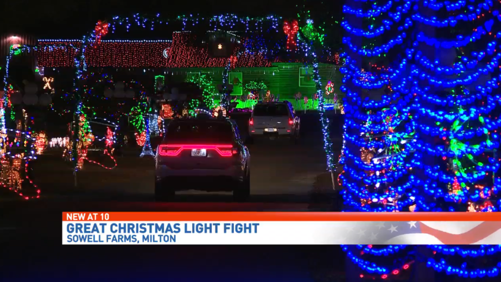 Christmas Light Fight.Milton Family Puts Up Over A Million Christmas Lights Picked To