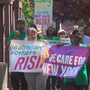 Home care professionals rally in Rochester for higher wages, better benefits
