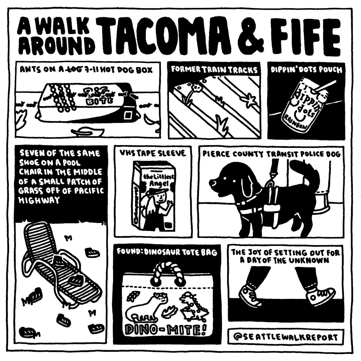A Walk Around Tacoma and Fife. (Image: @seattlewalkreport / seattlerefined.com/seattlewalkreport)