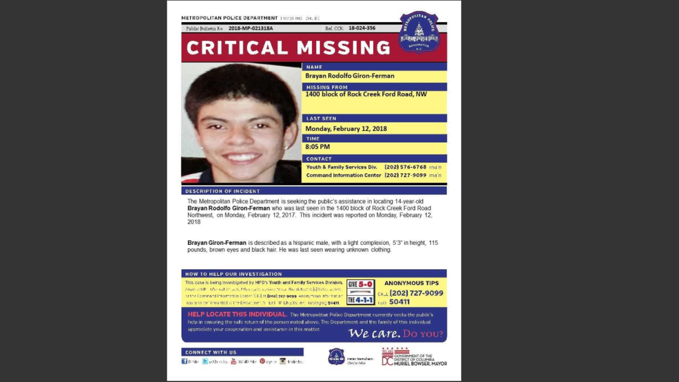 Police ask for help finding 14-year-old boy missing in DC | WJLA