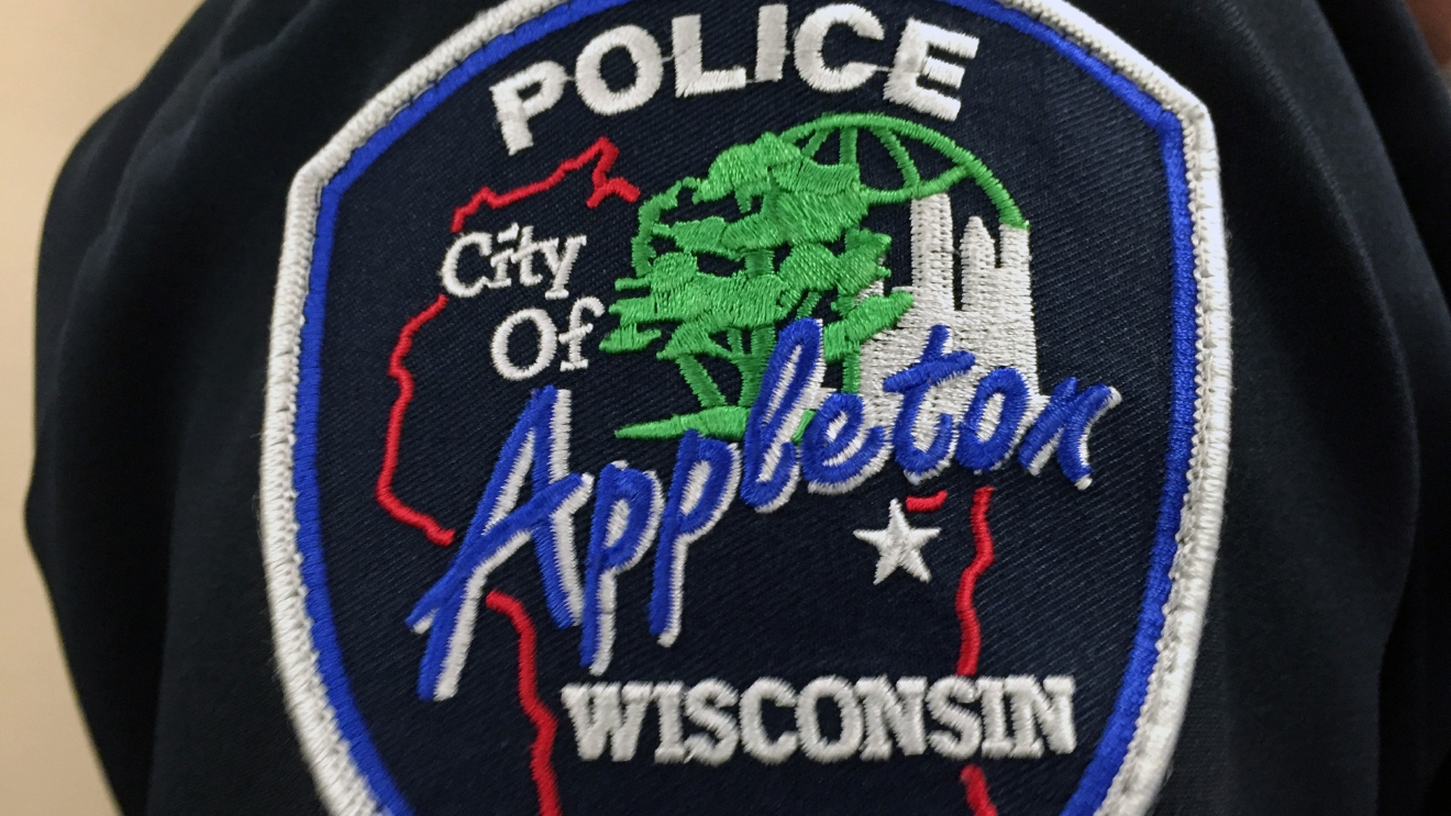 File photo of Appleton police patch. (WLUK/Gabrielle Mays)