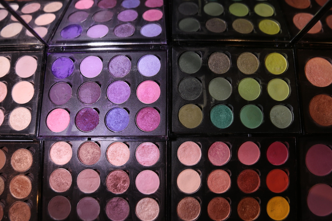 Pittman's eye shadows, which she developed. (Amanda Andrade-Rhoades/DC Refined)