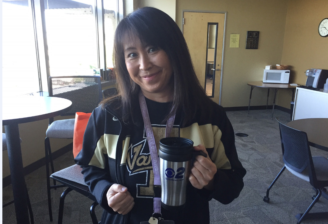 Mugshot Mondays: This week's winner is the University of Idaho in Boise! Kelsey Anderson & Bryan Levin helped deliver free Dutch Bros. Coffee and KBOI mugs! Want your business to be next? Enter: http://bit.ly/1UoKo3X