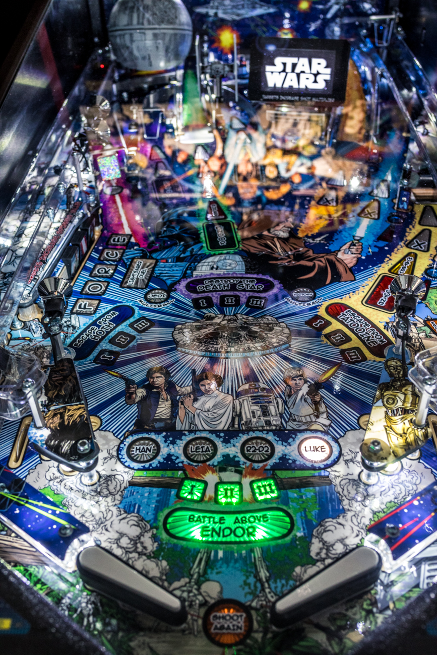 All the machines operate on free play by purchasing tickets for specific time slots. For ticketing info and hours of operation, call (513) 300-0152 or keep a lookout for updates and events (like their Cars & Coffee car shows) on Instagram and Facebook @pinballgarage. / Image: Catherine Viox // Published: 7.11.20<br>