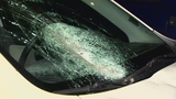 'My windshield exploded': Drivers terrified as concrete chunks smash into cars in Seattle