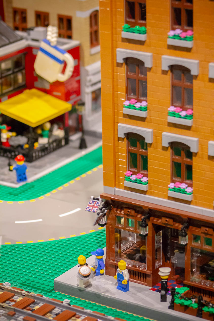 The LEGO gallery is laden with pop culture references and silly situations that could keep you scanning the display for house uncovering new finds. You'll also spot some familiar Cincy landmarks among the fantastical scenes, too. / Image: Katie Robinson, Cincinnati Refined // Published: 11.8.19