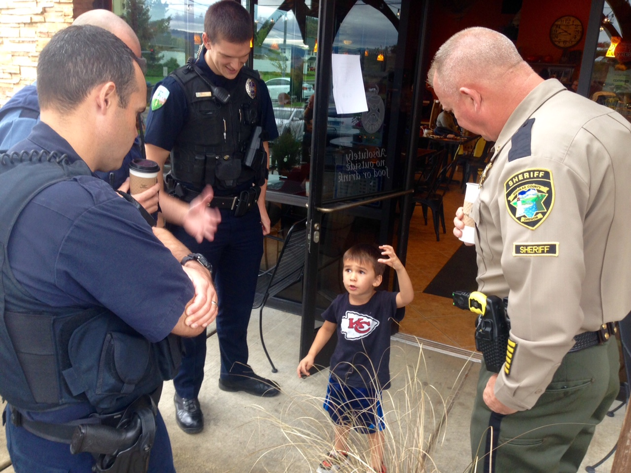 In this file photo, visitors participate in Coffee with a Cop at My Coffee in Roseburg on October 7, 2016. (SBG)