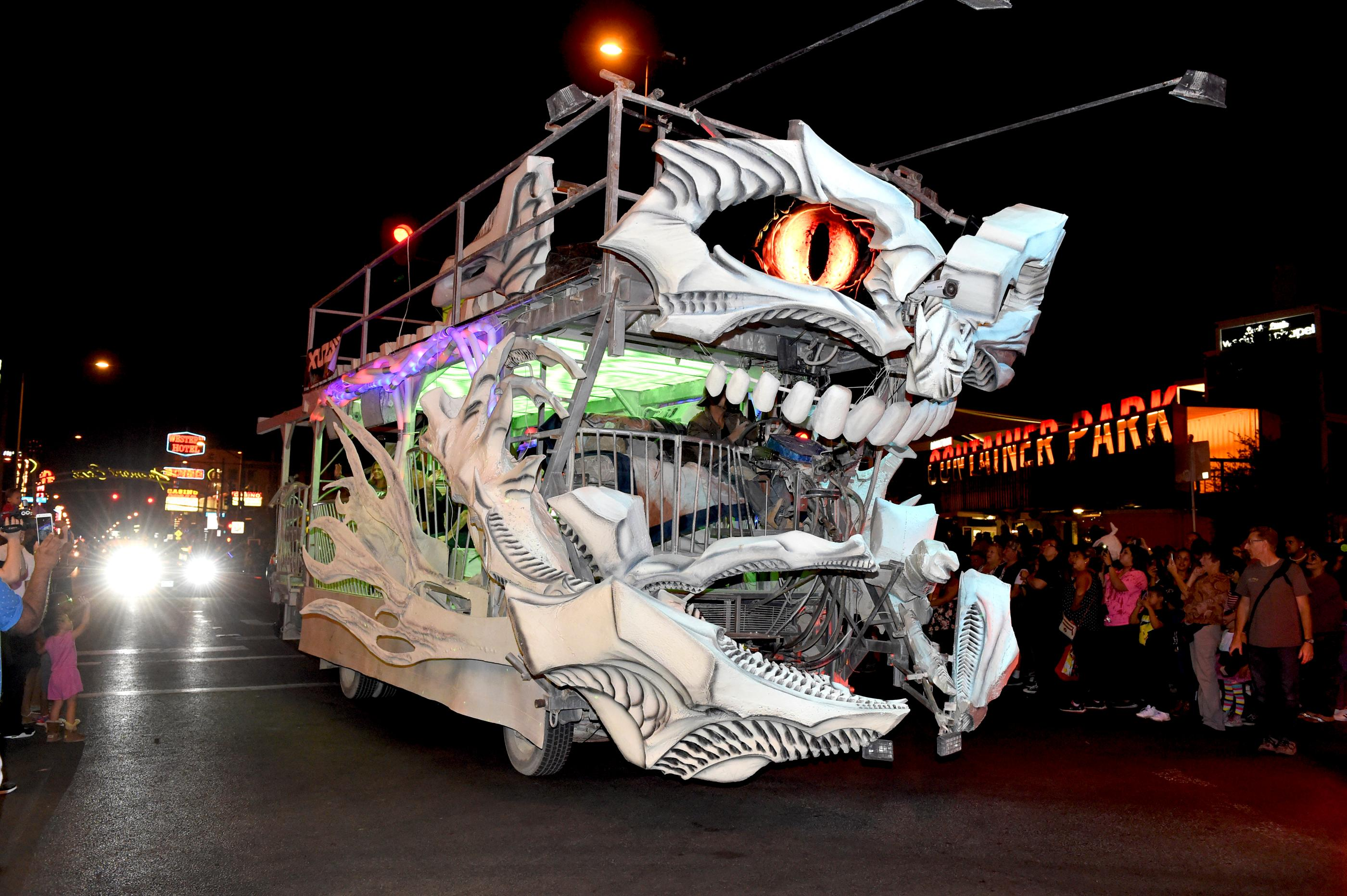 Crowds gather to watch and participate in the Sin City Halloween Parade in the East Fremont District. Thursday, October 28, 2017. Saturday, October 28, 2017. [Glenn Pinkerton/Las Vegas News Bureau]