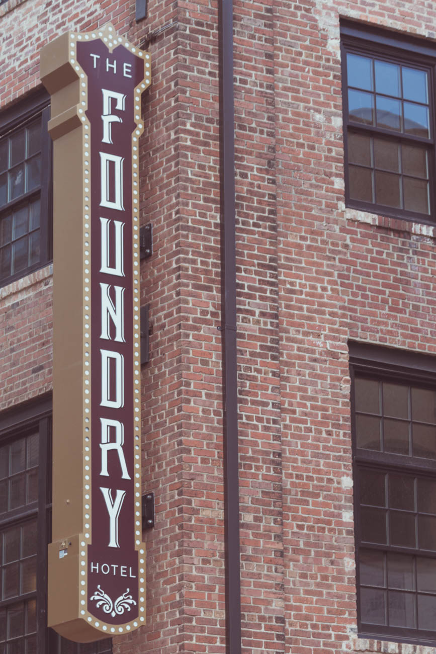 "Asheville Foundry Hotel, part of Hilton's Curio Collection, recently opened in the city's historical business district known as ""The Block."" / Image courtesy of The Foundry Hotel, a Curio Collection by Hilton Property // Published: 12.29.18"