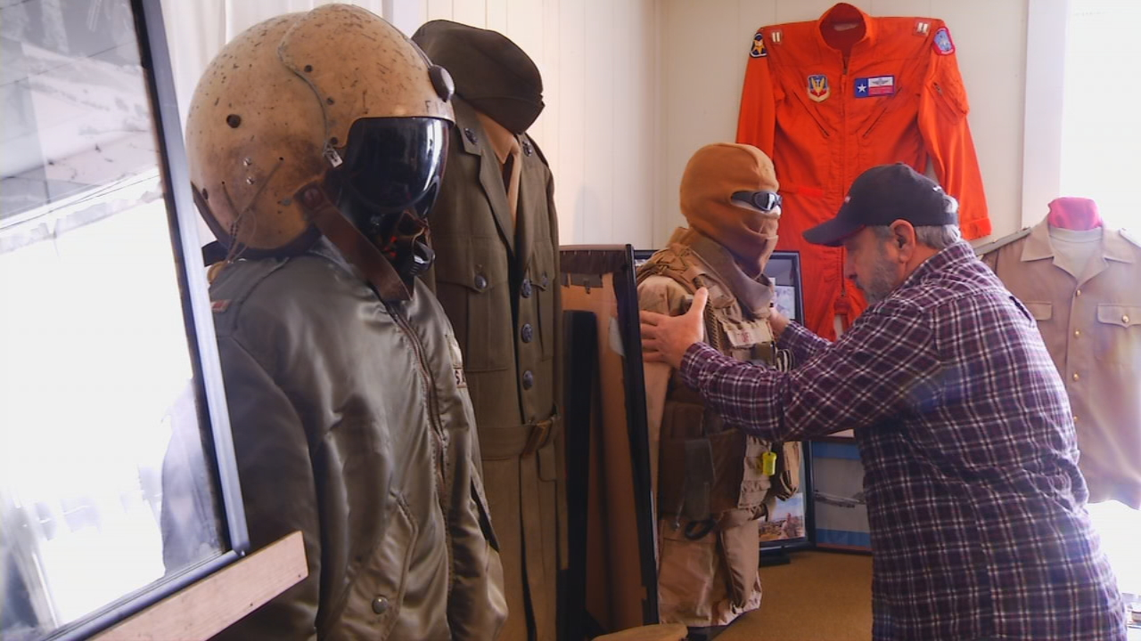 In this week's Carolina Moment, photojournalist Ken Corn introduces Emmett Casciato, who has taken his hobby of collecting military artifacts and memorabilia to the next level. (Photo credit: WLOS Staff)