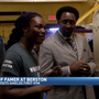 Hall of Fame fighter Hitman Hearns takes in Claressa Shields workout in Flint
