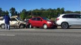 Medical emergency causes four-car accident, delays on I-75N in Macon