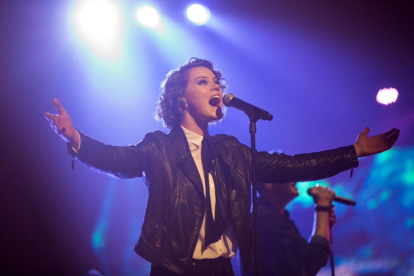 "Taya Smith in ""Hillsong–Let Hope Rise."" (Courtesy PureFlix Entertainment)"