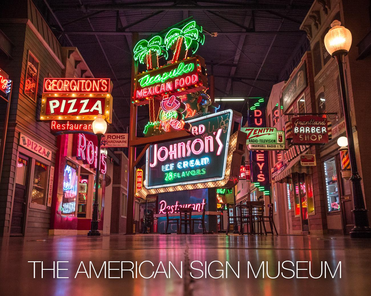 PLACE: American Sign Museum / DESCRIPTION: a museum dedicated to the history of signs of all shapes and sizes from various eras of American history / ADDRESS: 1330 Monmouth Ave (45225) / ADMISSION: $15 adults, $10 seniors, students, and military{&amp;nbsp;} / Image: Phil Armstrong // Published: 11.29.17<p></p>