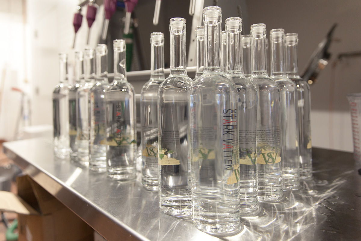 Bottling vodka (Image: Paola Thomas / Seattle Refined)