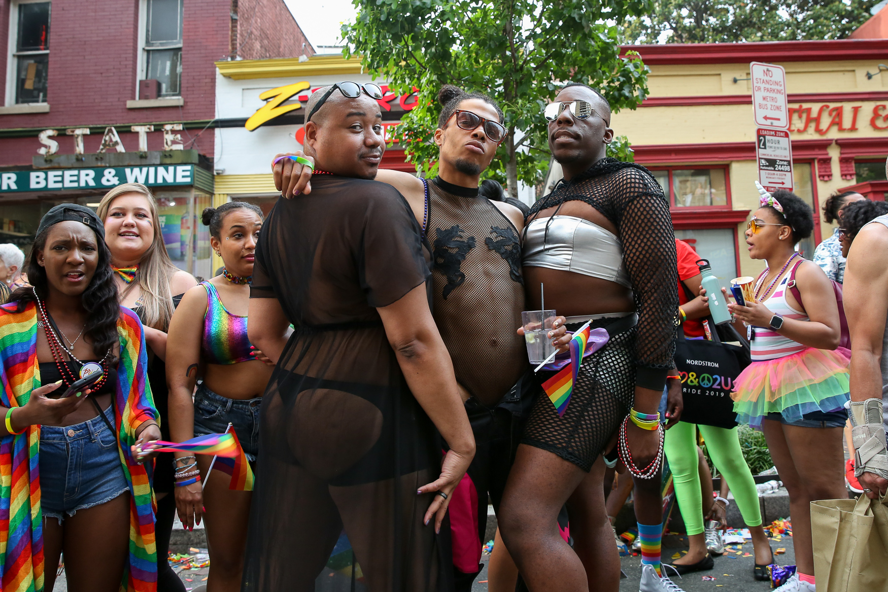 On the opposite side of the spectrum, there were some major goth vibes being served up at Pride.{ } (Amanda Andrade-Rhoades/DC Refined)