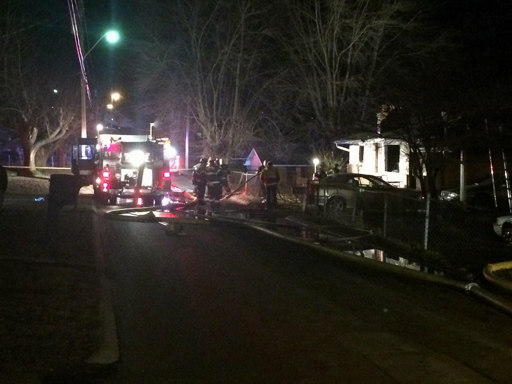 Crews worked to put out a house fire in Cleveland. One man was killed. (Image: WTVC)<p></p>