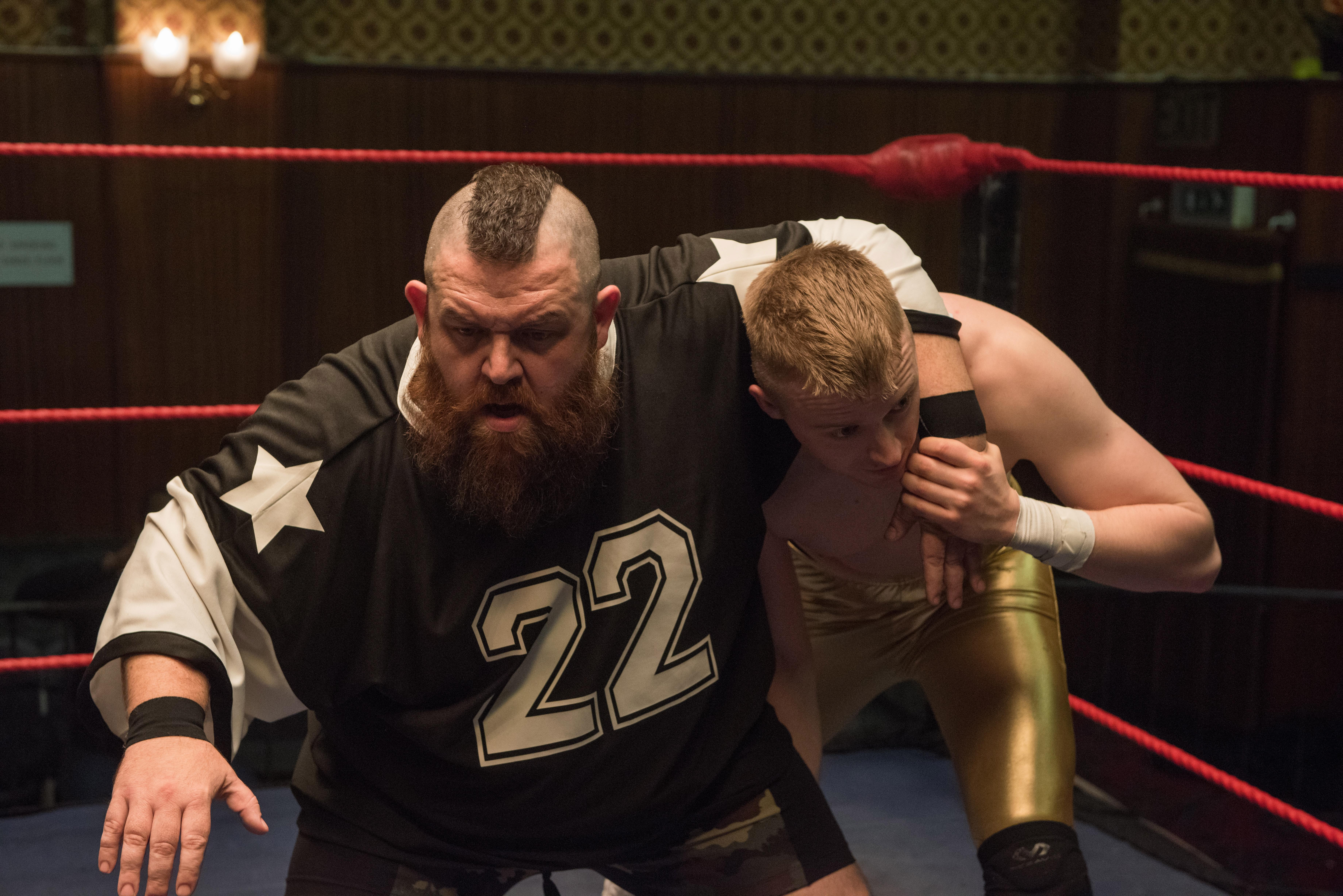Nick Frost as Ricky Knight and Jack Lowden as Zak Knight in FIGHTING WITH MY FAMILY, directed by Stephen Merchant, a Metro Goldwyn Mayer Pictures film.Credit: Robert Viglasky / Metro Goldwyn Mayer Pictures© 2018 Metro-Goldwyn-Mayer Pictures Inc.{ } All Rights Reserved.