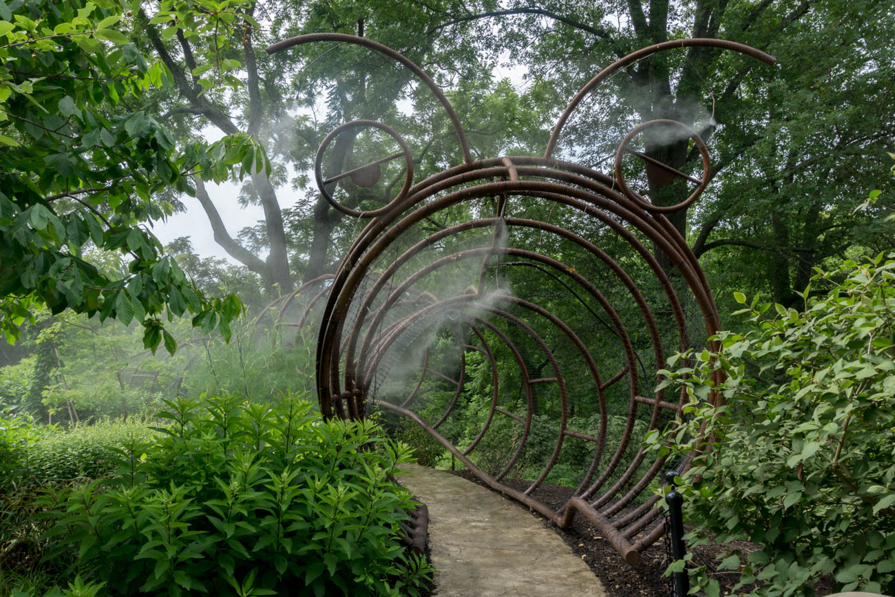 "Pictured: A lush, verdant path within Glenwood Gardens from the gallery ""Woodlawn's Glenwood Gardens Is 335 Acres Of Forests, Flowers, And Formal Gardens"" / Image: Sarah Vester // Published: 12.31.17<p></p>"