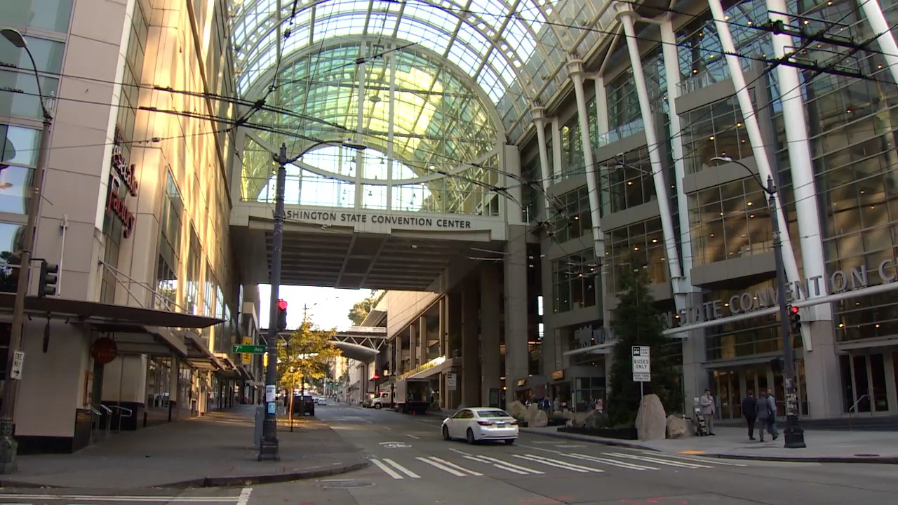 The benefits package for the Convention Center expansion includes: $10 million to improve Freeway Park, $10 million to improve bike lanes along Pike/Pine and $29 million to pay for affordable housing. There is also another $1.5 million to study putting a lid over Interstate 5. (Photo: KOMO News)