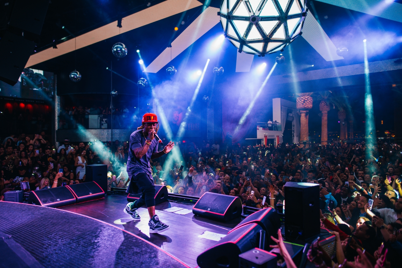 Five-time Grammy-winning rapper Lil Wayne makes his debut performance Saturday, March 25, 2017, at Drai's Nightclub atop The Cromwell in Las Vegas. (Photo courtesy of Woody Hugh/Tony Tran Photography)
