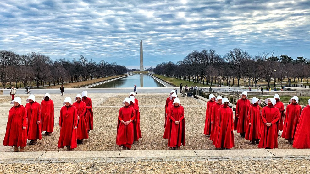 'Handmaids' flood National Mall as Hulu series films in D.C.