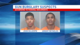 Suspects in custody after burglary at two Corridor gun shops