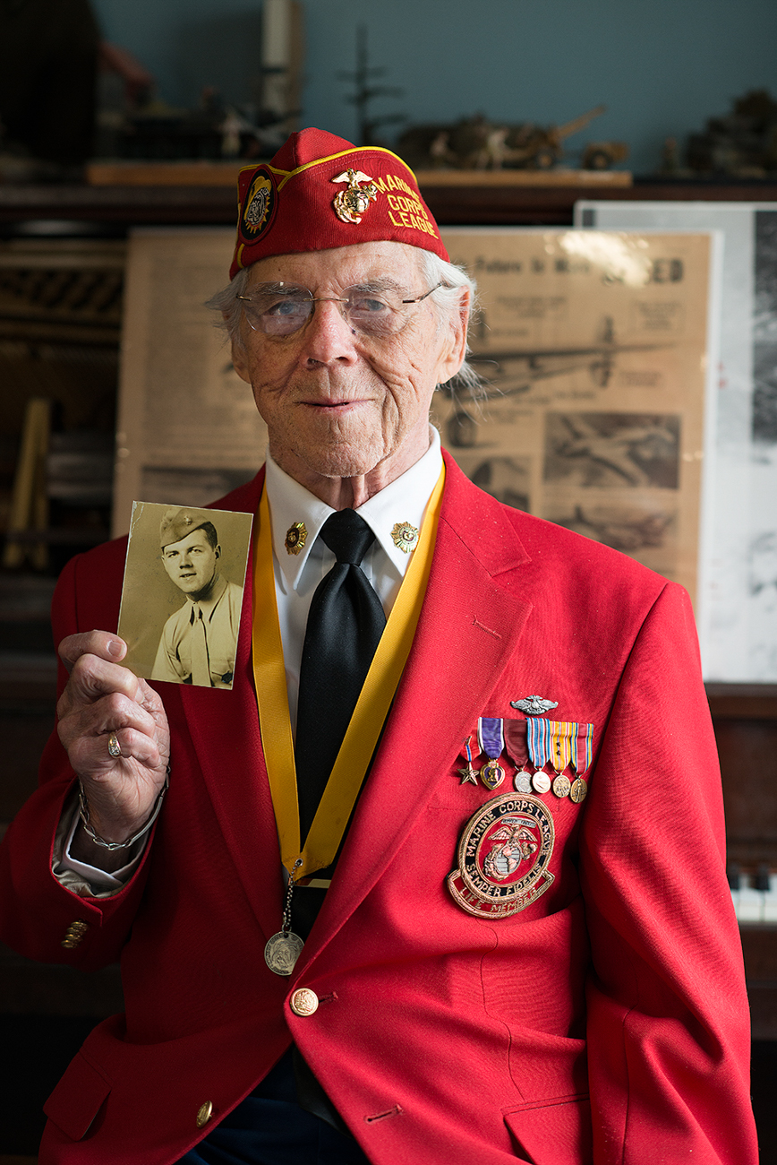 JACK DAUGHERTY / He was awarded the bronze star for saving the life of a fellow marine during the infamous Battle of Iwo Jima. Read more of his story at facebook.com/theygaveitall. / Image: Patrick McCue // Published: 1.29.17