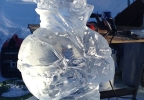 "Hans from the Disney movie ""Frozen"" featured in ice at the Winterfest on Broadway celebration."