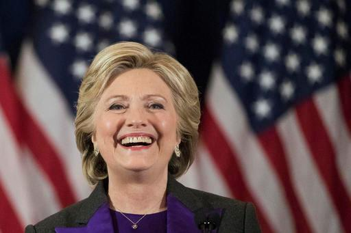 FILE - In this Nov. 9, 2016 file photo, Democratic presidential candidate Hillary Clinton speaks in New York, where she conceded her defeat to Republican Donald Trump after the hard-fought presidential election. (AP Photo/Matt Rourke, File)