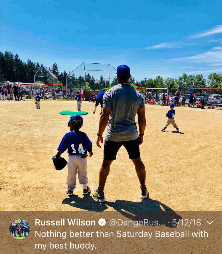 That one time Russ showed how great of a dad he is...Happy 30th birthday, Russell! (Image: @dangerusswilson / twitter.com/dangerusswilson)
