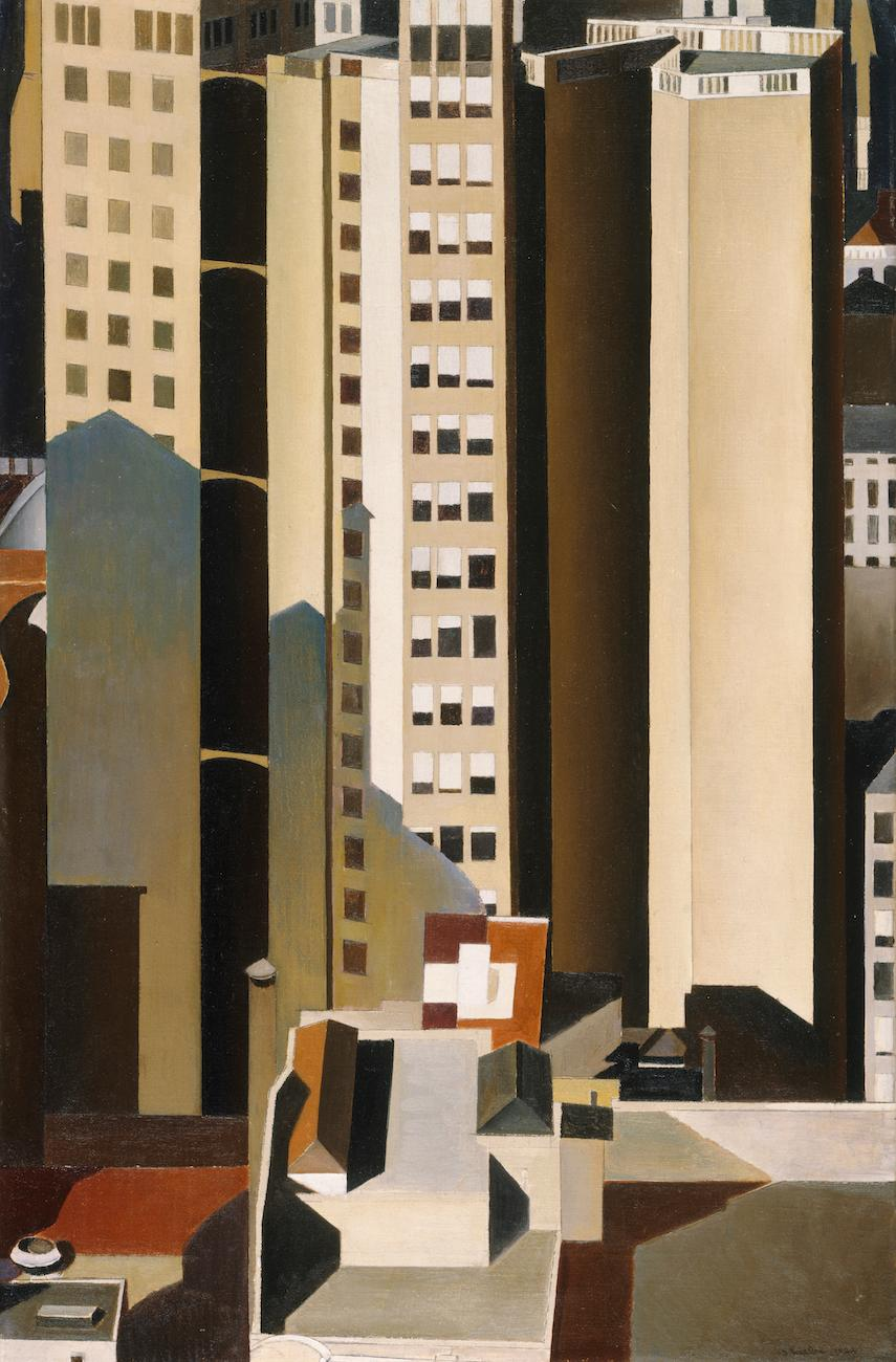 'Skyscrapers' (1922) by Charles Sheeler / Image courtesy of the Taft Museum of Art // Published: 5.1.19