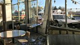 TWO HURT| Pest control truck crashes into Chipotle