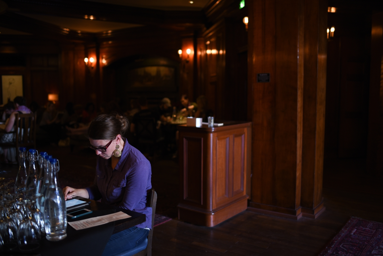 Seattleites come on the first Wednesday of the month to partake in the monthly Silent Book Reading Party starting at 6 p.m. (Image: Rebecca Mongrain / Seattle Refined)