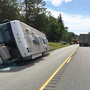 Road open after motorhome rollover crash on U.S. 101, 1 person airlifted