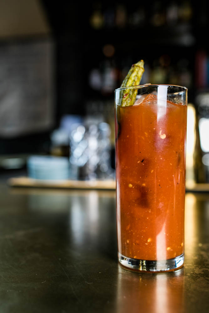 The Boomtown Bloody: Spicy tomato or sweet carrot, Russian Standard vodka, Dickel rye, or El Jimador tequila{ }/ Image: Amy Elisabeth Spasoff // Published: 4.2.18