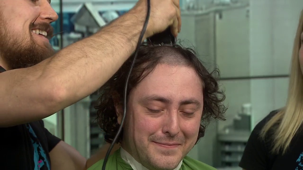 St. Baldrick's shaves News 3 producer ahead of shave-a-thon at New York-New York