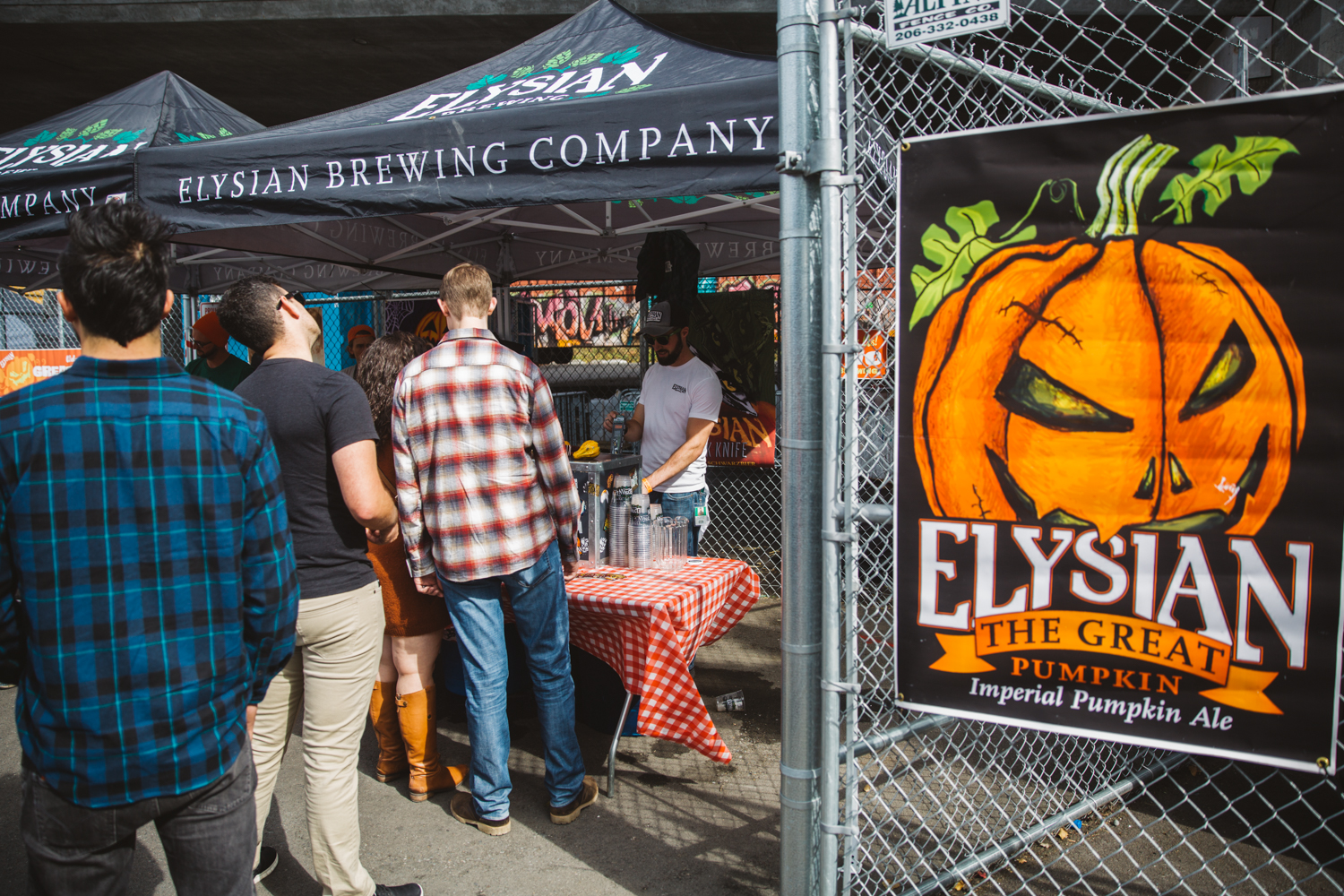 <p>Holy pumpkins! Saturday, September 29th marked the 4th annual Great Pumpkin Weigh-Off at Elysian Brewery's Georgetown location! The GWPO is an event to celebrate local growers in the Northwest. The giant pumpkins are hauled in, judged, weighed, and prize money is awarded to the biggest pumpkins on the block (Image: Ryan McBoyle / Seattle Refined).</p>