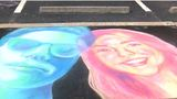 AAST students create works of art with sidewalk chalk