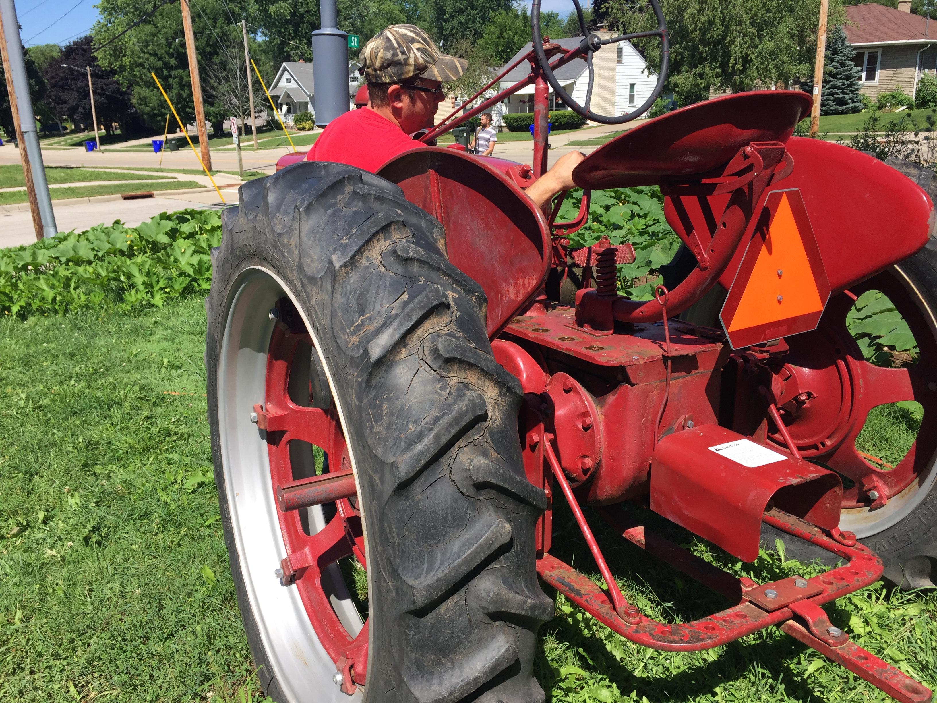 According to the City of Kaukauna, the tractor is a violation of city code. August 7, 2017 (WLUK/Pafoua Yang)